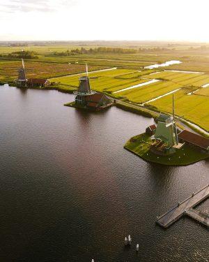 Zaanse Schans Nederland Drone NijMegens